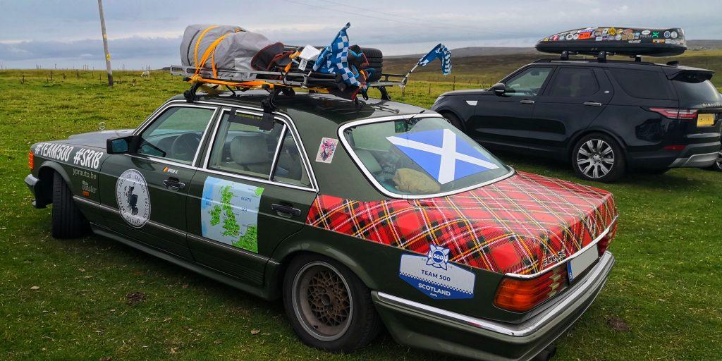Scozia in auto