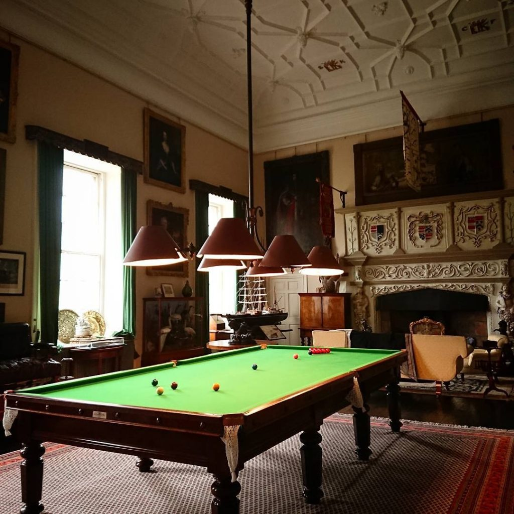 Glamis Castle sala da biliardo