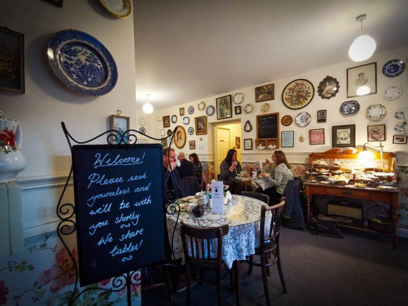 Edimburgo inverno tearoom