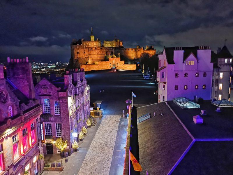 Edimburgo inverno castello