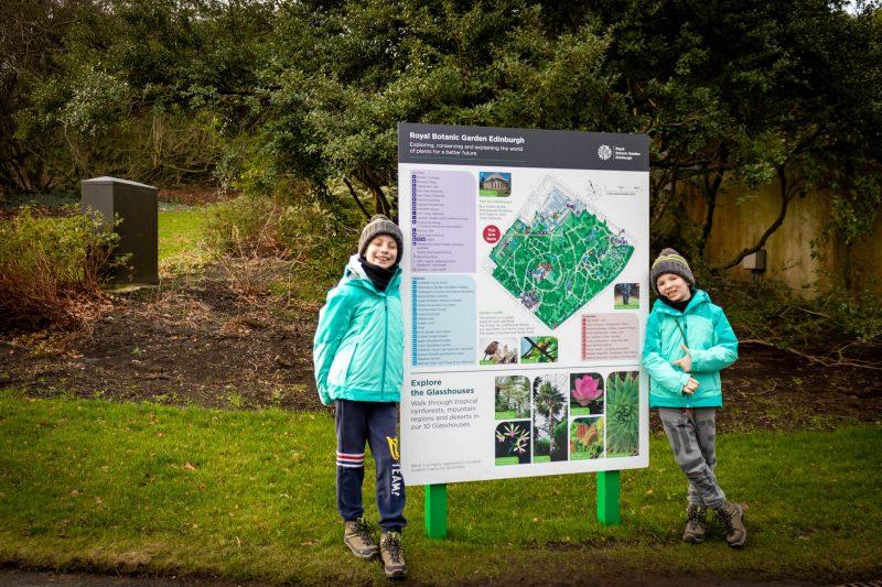 Edimburgo bambini giardino botanico