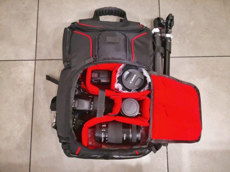 Zaino fotografico professionale interno
